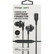 Chargeworx Earbuds with Lightning Connector and Built-in Mic