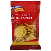 Shoppers Value Tortilla Chips, Gluten Free, Crispy Rounds