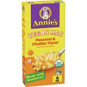 Annie's Organic Vegan Mac Cheddar Flavor Pasta and Sauce