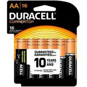 Duracell Coppertop AA Alkaline Batteries 16 count Primary Major Cells
