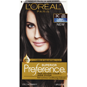 L'Oreal Superior Preference Permanent Hair Color 3C Cool Darkest Brown