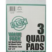 Norcom Quad Pads, Value Pack