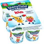 Stonyfield Organic Kids Strawberry & Strawberry Banana Lowfat Yogurt Variety Pac