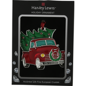 Harvey Lewis Holiday Ornament, Red Truck