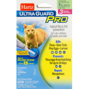 Hartz Ultra Guard Pro Topical Flea & Tick Prevention For Cats & Kittens - 3 CT