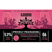 2 Towns Ciderhouse Cider, Prickly Pear, 6-Pack