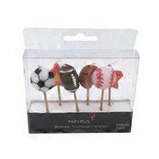 Papyrus Stars & Sports Balls Toothpick Candles