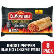 El Monterey Ghost Pepper Bean, Rice & Chicken Flavored Chimichangas