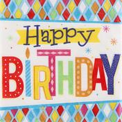 Party Creations Napkins, Bright Birthday, 2 Ply
