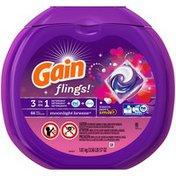 Gain flings! Laundry Detergent Pacs, Moonlight Breeze, 66 count Laundry