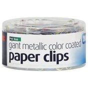 Oic Paper Clips, Giant Metallic Color Coated