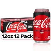 Coca-Cola Cherry Vanilla , Cherry Vanilla Flavored Diet Soda Pop Soft Drink, Fridge Pack