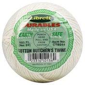 Librett Durables Twine, Cotton Butcher's, No. 24, 185 Feet