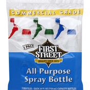 First Street Spray Bottle, All Purpose, 3 Pack