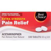 Best Choice Non-Aspirin Extra Strength Pain Relief Tablets