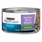 Purina Pro Plan Duck Entree Sensitive Skin & Stomach Focus Cat Food