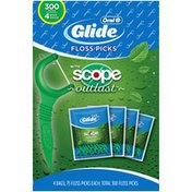Oral-B Glide Complete with Scope Outlast Dental Floss Picks, Mint