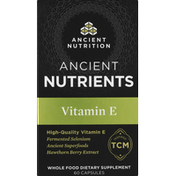 Ancient Nutrition Vitamin E, Capsules, Ancient Nutrients