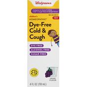 Walgreens Cold & Cough, Dye-Free, Grape Flavor, Children's