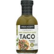 Urban Accents Simmer Sauce, Tangy Tomatillo Garlic, Medium, Taco
