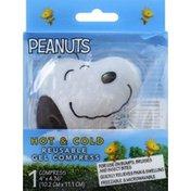 Peanuts Gel Compress, Reusable, Hot & Cold