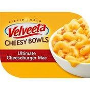 VELVEETA Cheesy Bowls Ultimate Cheeseburger Mac with Savory Cheese Sauce Microwavable Meal