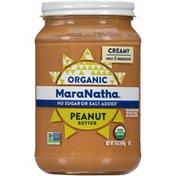 Maranatha No Stir Creamy Organic No Sugar or Salt Added Peanut Butter
