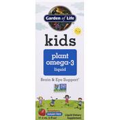Garden of Life Plant Omega-3 Liquid, Sugar Free, Strawberry