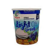 Gevina Non Fat Light Greek Blueberry Yogurt