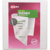 Avery Blinder, Clear Cover, Durable, 1 Inch