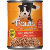 Paws Happy Life Chunky Beef Dog Food