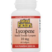 Natural Factors Lycopene, 10 mg, Softgels