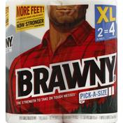 Brawny Paper Towels, Pick-A-Size, XL Rolls, 2-Ply