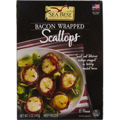 Sea Best Scallops, Bacon Wrapped