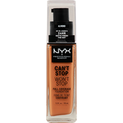 NYX Professional Makeup Full Coverage Foundation, Can't Stop Won't Stop, Almond CSWSF15.3