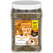 Purina Friskies Made in USA Facilities Cat Treats, Party Mix Crunch Chicken Lovers