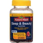 Nature Made Sleep & Beauty, Mixed Berry, Gummies