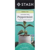 Stash Tea Herbal Tea, Caffeine-Free, Peppermint, Tea Bags, Box