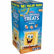 Kellogg's Rice Krispies Treats SpongeBob SquarePants Marshmallow Snack Bars, Kids Snacks, School Lunch