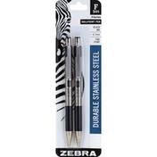 Zebra Ballpoint Pens, Black Ink, F-301, Fine Point (0.7 mm)