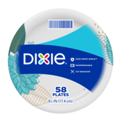 Dixie Paper Plates, 6.8 Inch Dessert or Snack Plate (Design May Vary)