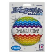 """Betallic 18"""" Holographic Balloon Congratulations"""