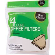 Best Choice #4 Natural Cone Coffee Filters