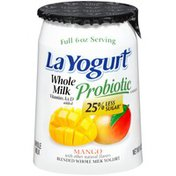 La Yogurt Probiotic Formula Mango Blended Whole Milk Yogurt