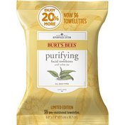 Burt's Bees Purifying Facial Towelettes With White Tea Extract