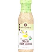 Tessemae's All Natural Dressing, Organic, Creamy Green Goddess