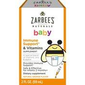 Zarbee's Naturals Baby Immune Support & Vitamins, Natural Orange