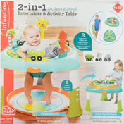 Infantino Entertainer & Activity Table, 2-in-1 Sit, Spin & Stand, Tiny to Toddler, 4 Months-5 Years