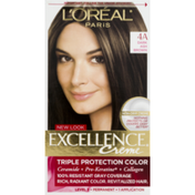 L'Oreal Excellence Creme Permanent Hair Color 4A Dark Ash Brown