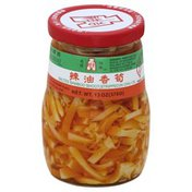 Oriental Mascot Bamboo Shoots, in Chili Oil, Salted, Stripped